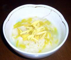 菊花と百合根のお粥