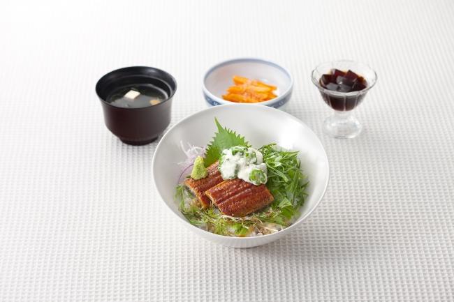 「緑野菜たっぷり ねばとろ鰻丼セット」(1,580円)