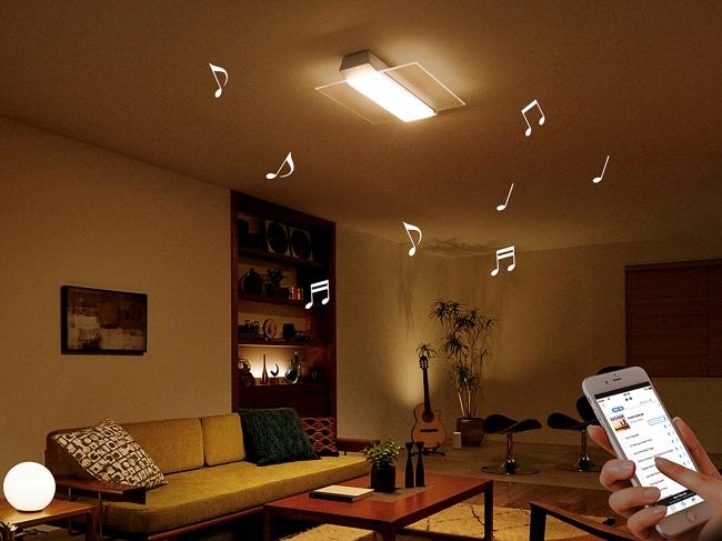 スピーカー搭載LEDシーリングライト「AIR PANEL LED THE SOUND」