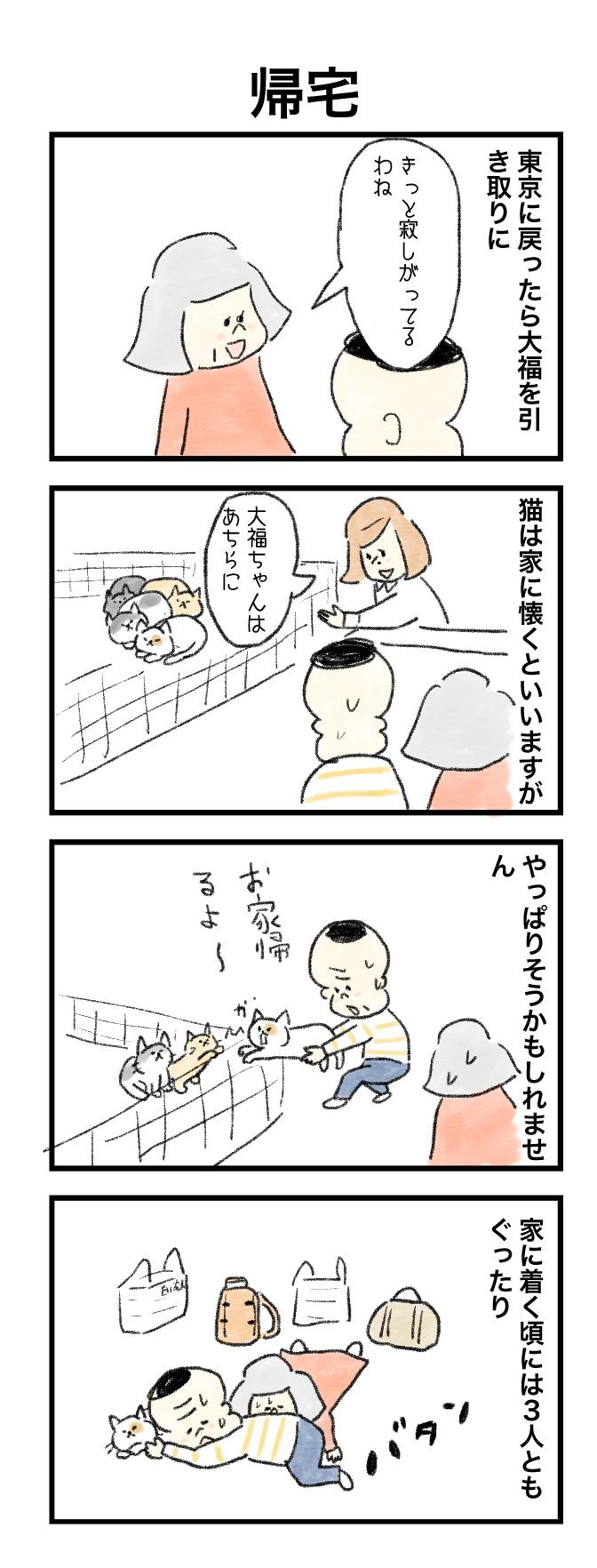 今日の泉谷さん【57】 作:カワサキヒロシ「帰宅」