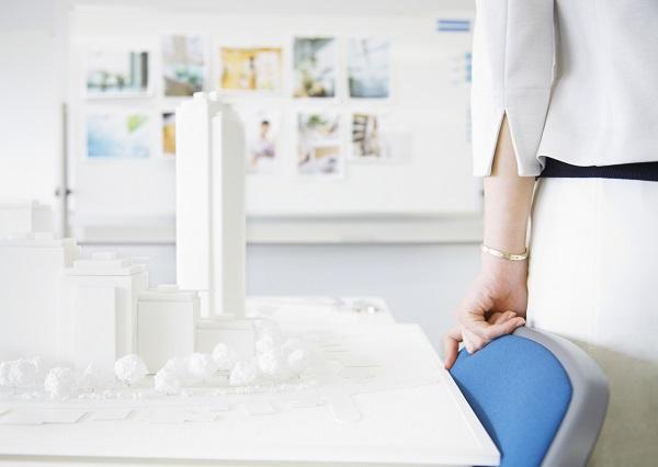 会議室の建築模型